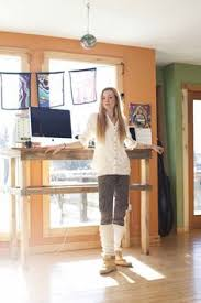 Industrial Standing Desk by Modern Standing Desk Industrial Reclaimed Wood Stand Up Desk