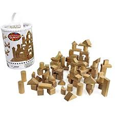 amazon com classic wooden building block set 100 pieces for