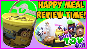 minions movie halloween pails 2015 happy meal review time