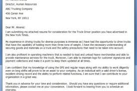 Truck Driving Resume Sample by Truck Driver Cover Letter