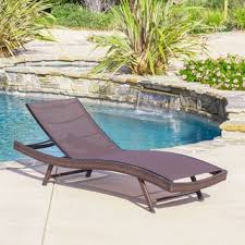Pool Chaise Christopher Knight Home Kauai Outdoor Chaise Lounge Set Of 2
