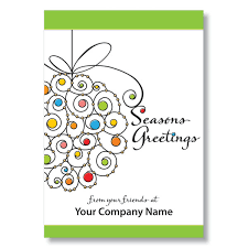 season s greetings card business cards