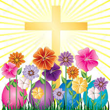 easter resurrection eggs vector illstration of a cross and easter resurrection egg garden
