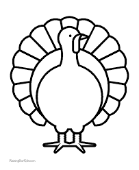 thanksgiving turkey coloring sheets 007
