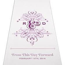Personalized Aisle Runner Personalized Wedding Aisle Runners The Knot Shop