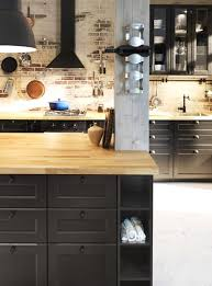 facades cuisine ikea cuisine noir bois aux façades noires cuisine ikea metod