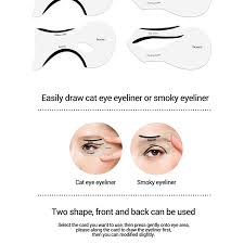 10pcs set cat eye fish tail double wing eyeliner stencil eyeliner