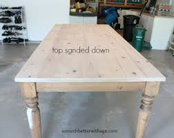 staining a table top dining room table makeover so much better with age