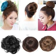 bun scrunchie stylish synthetic fiber pony hair bun extension