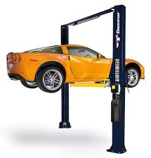 lifted corvette dannmar d 10acx two post car lift