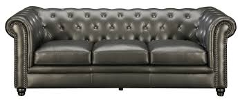 Sofas Chesterfield Darby Home Co Vanallen Leather Chesterfield Sofa Reviews Wayfair