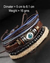 evil eye beaded bracelet images Streetsoul bead evil eye multilayer leather beads stack of 4 pcs jpg