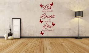 wall decals stickers home decor home furniture diy live laugh love butterflies home wall art vinyl decal sticker