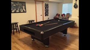 Pool Table Moving Cost by Assembly Of A Pool Table With Slate Youtube