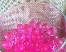 Pink Vase Fillers Transparent Water Absorbing Gel Beads Used For Floating Pearls