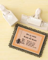 spiderweb halloween invitation martha stewart