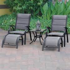 Reclining Patio Chairs Outdoor Reclining Patio Chair With Ottoman Meijer Outdoor Living