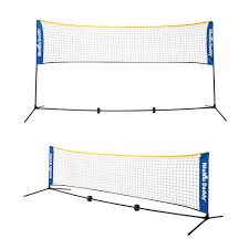 amazon com niuniu daddy portable badminton volleyball tennis net