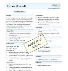 1 page resume sample eliolera com