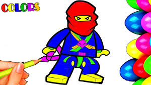 drawing lego man coloring pages painting cartoon kids