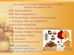 thanksgiving lesson plans