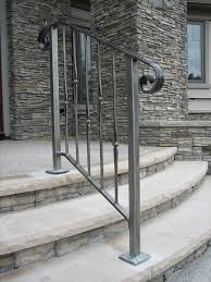 Cost Of New Banister Safety First Install An Outdoor Staircase Railing Concrete