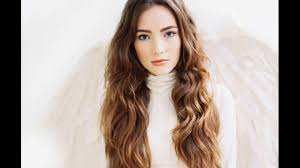 middle parting hairstyle for long and wavy hair youtube