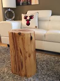Log Side Table Trunk Table Stump Side Table Log Side Tables Log Stool Rustic