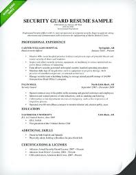 librarian resume sle india security guard resume sle resume
