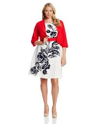 agb women u0027s plus size 2 piece set fit and flare with open front