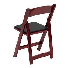 simple wooden folding chairs with padded seats mahogany wood chair