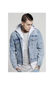 light blue denim jacket mens collarless denim jacket light blue