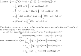Fourier Transform Table The Power Of The Fourier Transform For Spectroscopists Chemistry