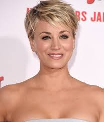 why did kaley cuoco cut her hair in a pixie cut celebrity kaley cuoco hair changes photos video