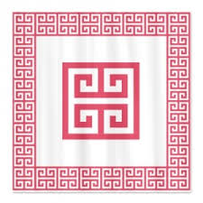 Greek Key Pattern Curtains Makanahele Com Category Greek Key Shower Curtains