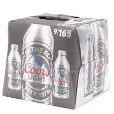 Bud Light Aluminum Bottle Coors Light Beer 16oz Aluminum Bottle 9 Pack Beer Wine