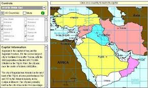 middle east map interactive with interactive maps to learn geography of the middle east