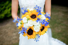 sunflower wedding 22 cheery sunflower wedding bouquets mon cheri bridals
