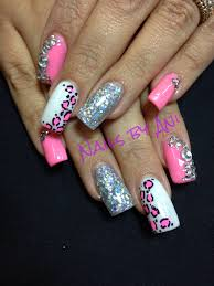 leopard acrylic nail designs how you can do it at home pictures