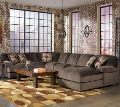 Oversized Furniture Living Room by Decor Chocolate Oversized Couches With Storage Ottoman And Rug