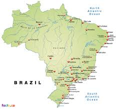 Latin America Blank Physical Map by Brazilphysicalmap Png