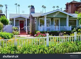 beautiful homes estates santa monica city stock photo 299809136