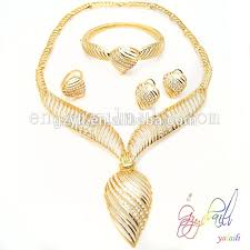 new gold set jewelry fashion 2015 new design gold plated bridal jewelry set