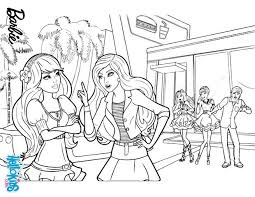 barbie and raquelle are arguing coloring pages hellokids com