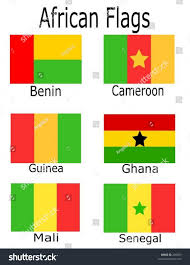 Benin Flag African Flags Benin Cameroon Guinea Ghana Stock Vector 289699