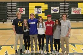 College National Letter Of Intent Srvhs Senior Athletes Participate In National Letter Of Intent