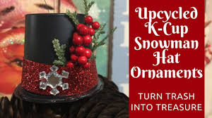 christmas crafts how to make snowman hat ornaments from empty k