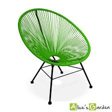 acapulco chaise fauteuil acapulco chaise oeuf design rétro cordage vert acapulco