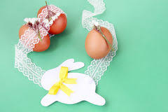 Decorating Easter Eggs With Lace by Frame Made With Easter Eggs Stock Image Image 4416425
