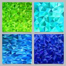 blue pattern background html blue and green abstract chaotic triangle pattern background set